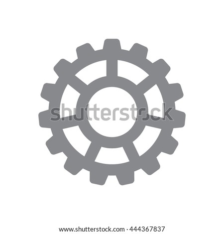 Settings vector icon.  - stock vector
