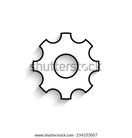 Settings   - vector icon with shadow - stock vector