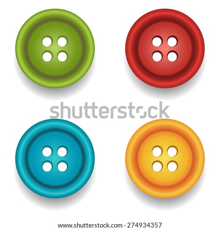 Sewing buttons. Vector - stock vector