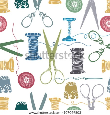 Sewing color background - stock vector