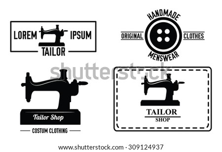 Sewing label  - stock vector