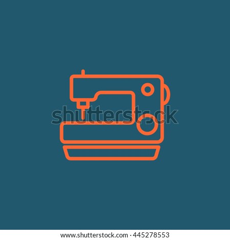 Sewing machine Icon. Sewing machine Icon Vector. Sewing machine Icon Art. Sewing machine Icon eps. Sewing machine Icon JPG. Sewing machine Icon logo.Sewing machine Icon Sign - stock vector