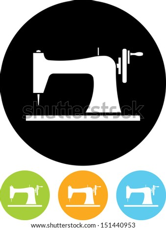 Sewing machine vector icon - stock vector