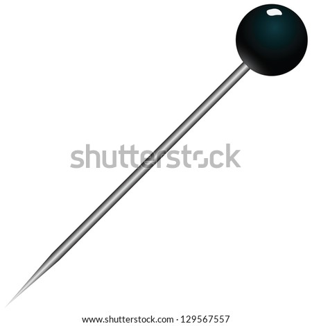 Sewing pins for fixing fabric. Vector illustration. - stock vector