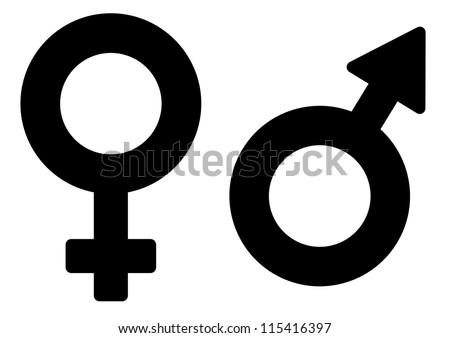 Sex symbol - stock vector