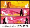 Sexy girls banners. To see similar, please VISIT MY GALLERY.   - stock vector