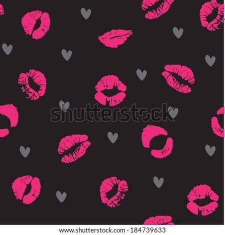 Sexy Lips Seamless Pattern - stock vector