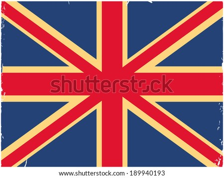Shabby British flag. Image can be used as wallpapers, print on paper, fabric and gadgets. - stock vector