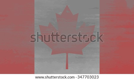 Shabby flag of Canada. National and weathered, country patriotic, texture aged, material antique. Vector art design abstract unusual fashion illustration - stock vector