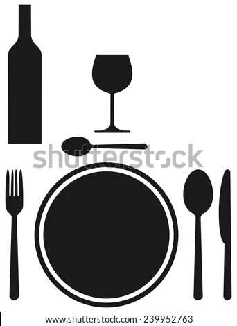 shadow table covered - stock vector