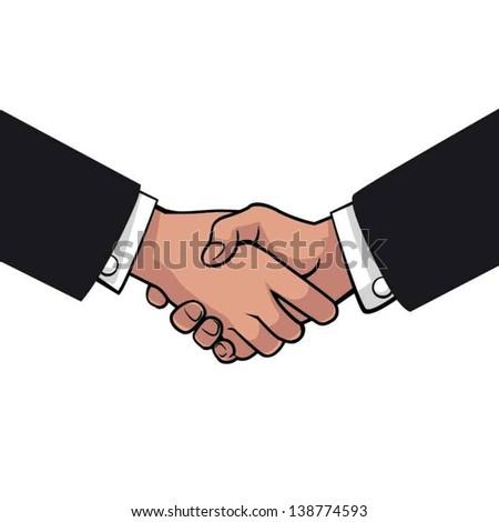 Shake hand - stock vector