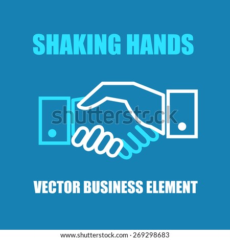 Shaking hands icon. Vector illustration - stock vector