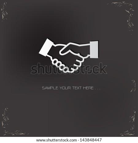 Shaking hands symbol,vector - stock vector