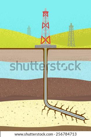 Shale Oil Gas - stock vector