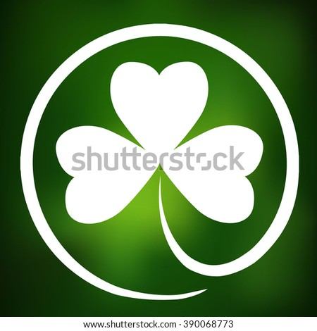 Shamrock for Saint Patrick's day - stock vector