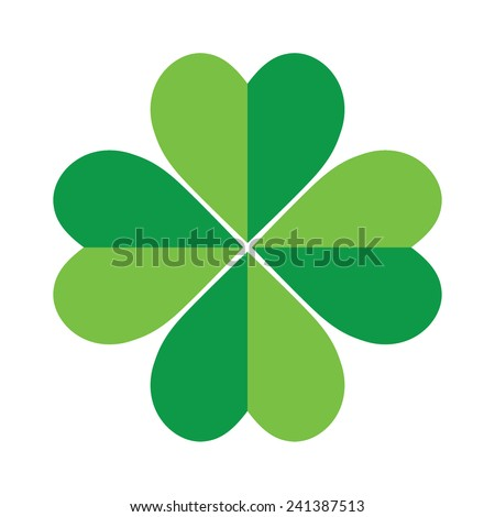 Shamrock, St Patrick's Day, Vector illustration - stock vector