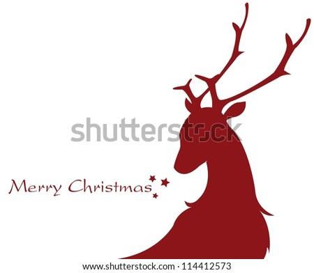 shape of a reindeer - stock vector