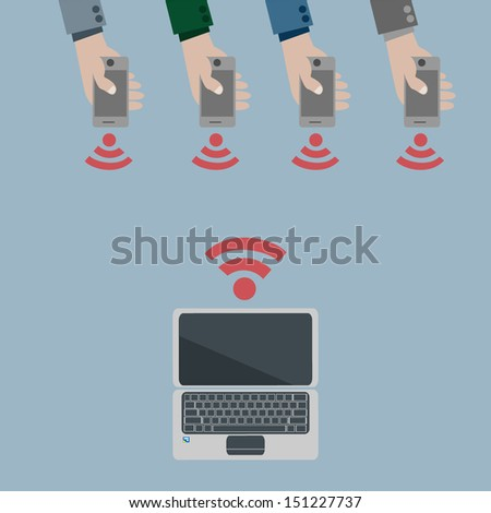 share  - stock vector