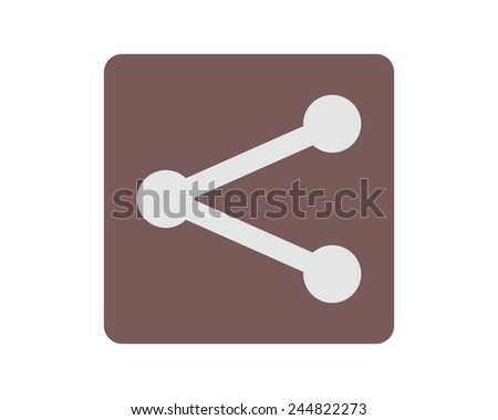 share icon - stock vector