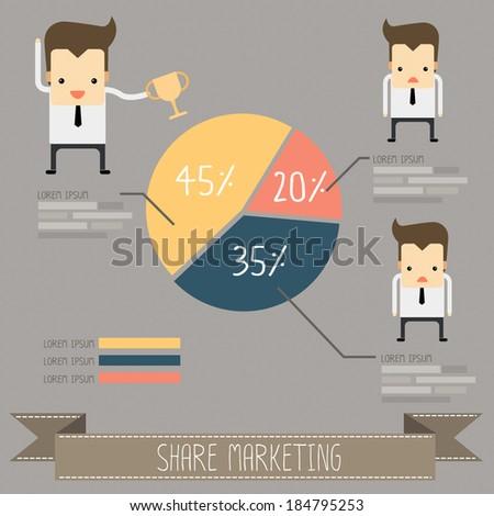 share marketing vector - stock vector