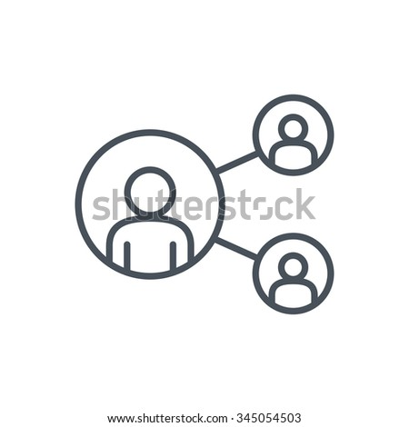 Share, network icon suitable for info graphics, websites and print media. Colorful vector, flat icon, clip art. - stock vector