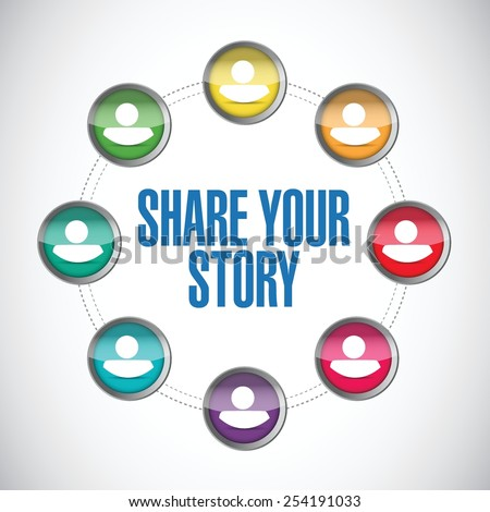 share your story people diagram illustration design over a white background - stock vector