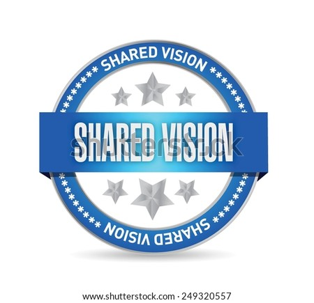 shared vision seal illustration design over a white background - stock vector