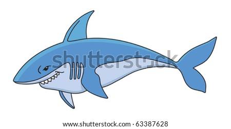 Shark cartoon vector illustration - stock vector