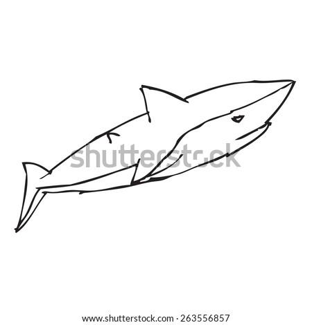 Shark Doodle - stock vector