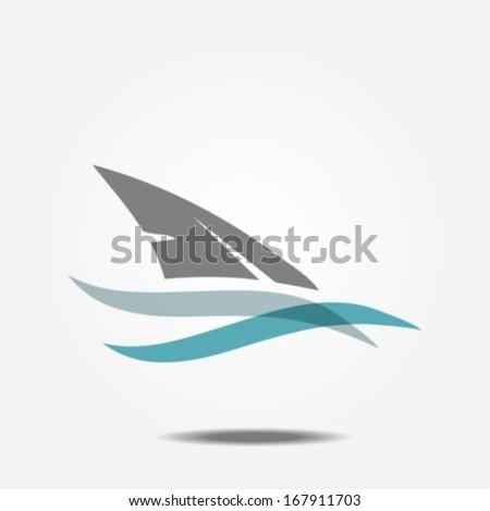 Shark fin - stock vector