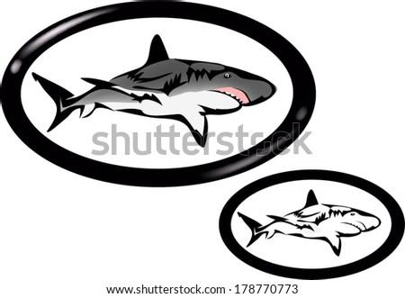sharks trademark - stock vector