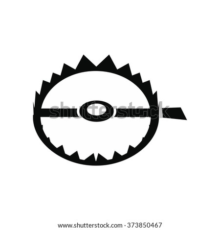 Sharp metal trap black simple icon isolated on white background - stock vector