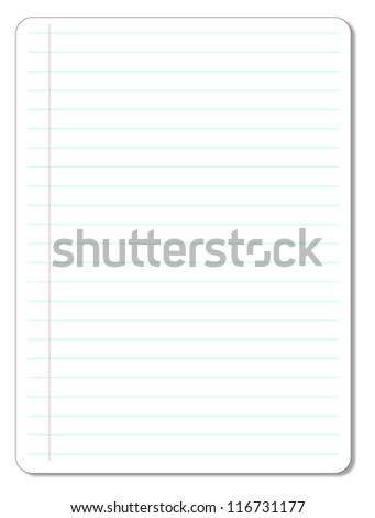 Sheet of Lined Paper. - stock vector