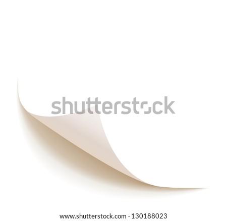 Sheet of paper. Vector illustration - stock vector