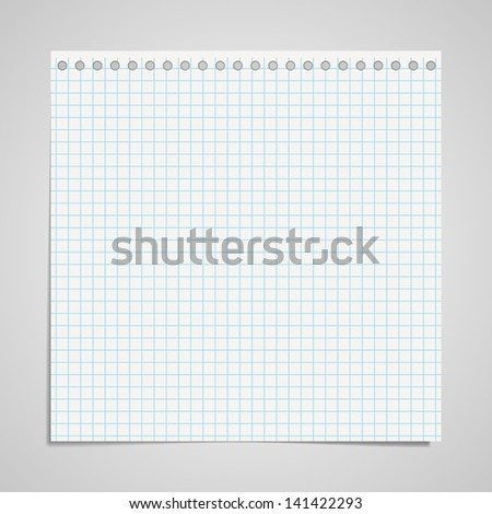 Sheet with holes from the pad - stock vector