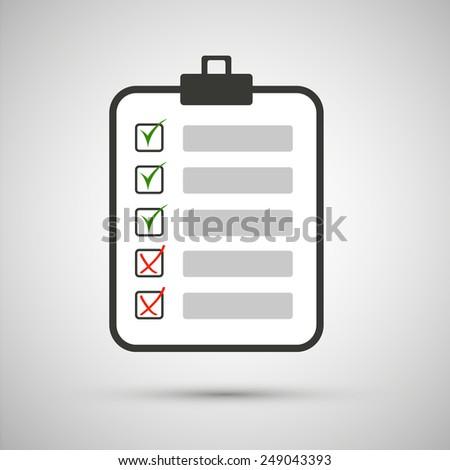 sheet written goals, list, document - stock vector