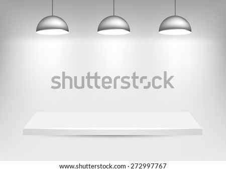 Shelf with Lights - stock vector