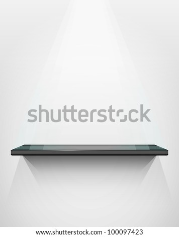 Shelf with place for your exhibit, vector illustration, eps10, 3 layers, easy editable - stock vector