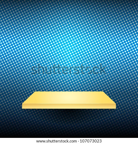 shelves on the wall with light. - stock vector