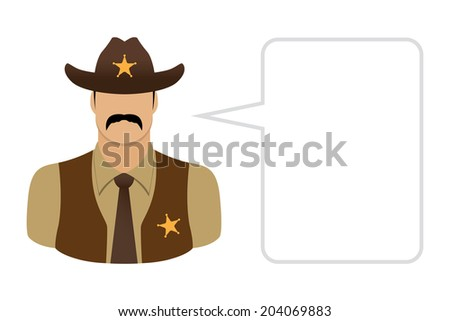 Sheriff, Avatars and User Icons - stock vector