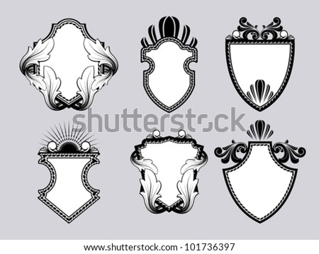 Shield crest - stock vector