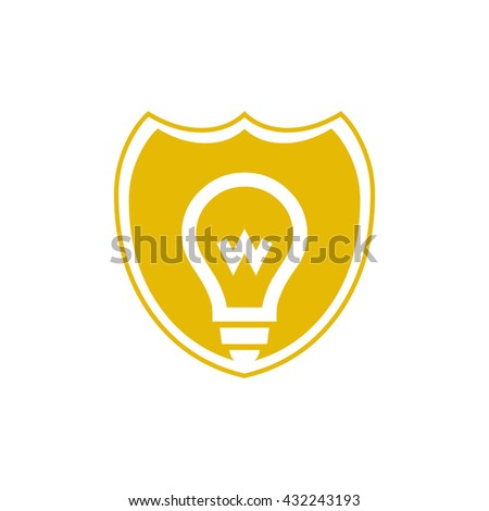 Shield Icon,Shield Icon Logo Shield Icon Web,Idea shield logo,protect logo,Save Idea,Secure Logo Icon, safety shield idea logo for security company, copyright, patent company or general use. - stock vector
