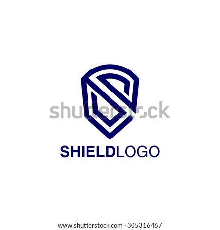 Shield Logo Template - stock vector