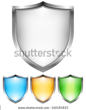 Shield set - stock vector