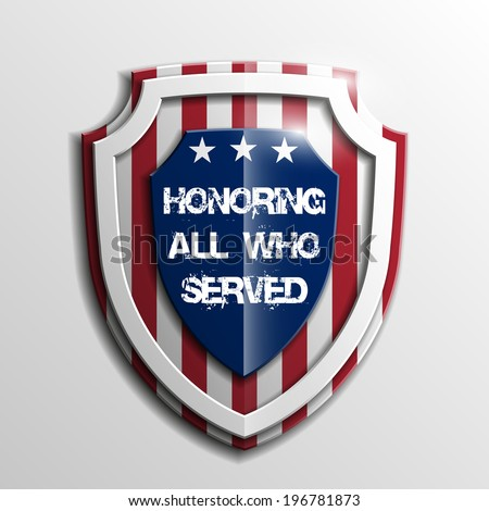 Shield USA Independence Day Veterans Day military army badge Veterans Day military army Veterans Day military army Veterans Day Veterans Day Veterans Day Veterans Day Veterans Day Veterans Day shield - stock vector