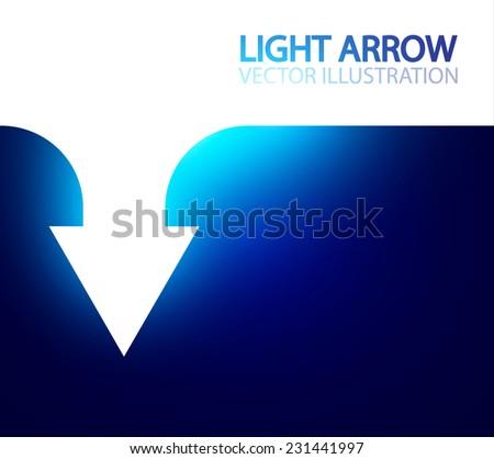Shining arrow techno banner. Vector illustration - stock vector