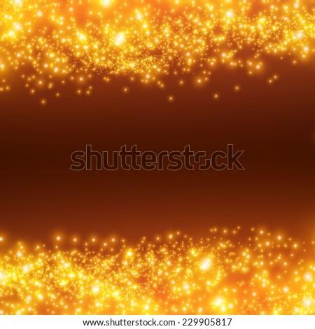 Shining bokeh illustration. Vector illustration - stock vector