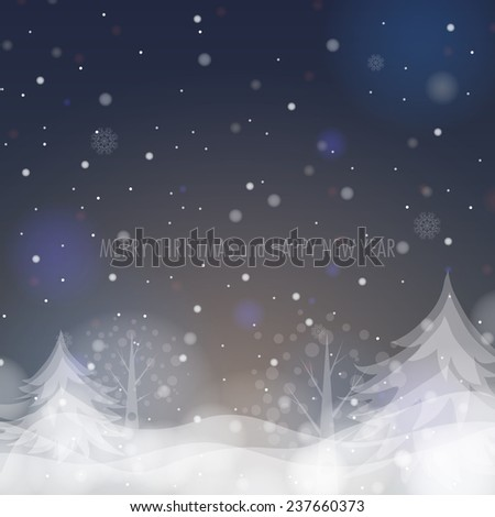 Shining Christmas Tree. Vector illustration. Eps 10 - stock vector