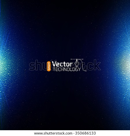 shining particles, Soft blur background - stock vector