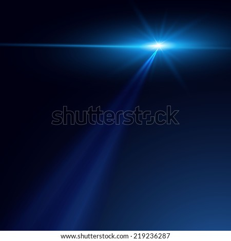 Shining star abstract background. Vector illustration - stock vector